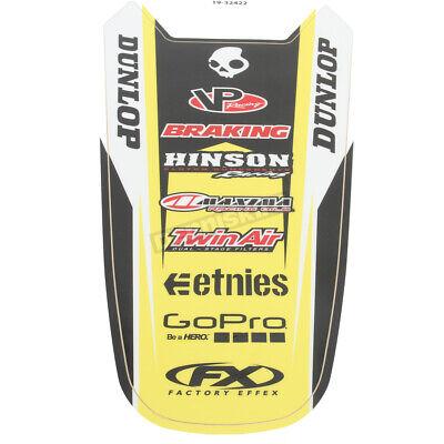 Factory Effex Rear Fender Decal Sticker Graphic Black Yellow Suzuki RM-Z250 -