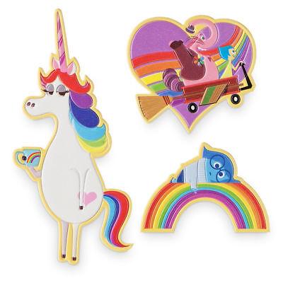 Disney Authentic Inside Out Adhesive Patches 3pc Joy Sadness Bing Bong Unicorn