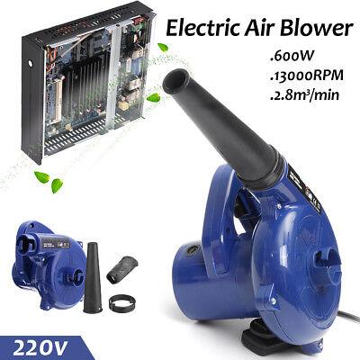 600W Electric Handheld Air Blower Computer Vacuum Car Garden Dust Leaf - Electric Garden Vacuum