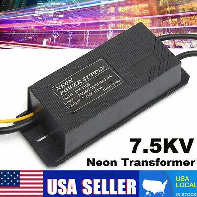 7.5kv Neon Sign Light Power Supply 7500v 30ma Electronic Transformer