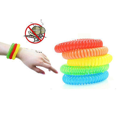 10 Covey Natural Mosquito Repellent Bracelet Bug Insect Protection Deet-Free