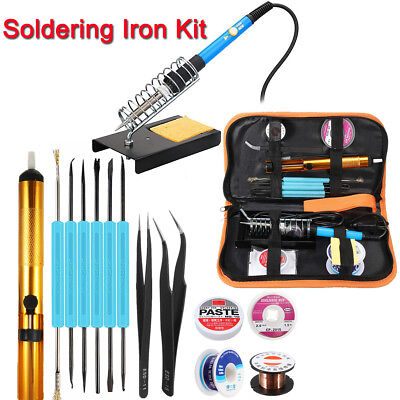 110V/220V 60W Adjustable Electric Temperature Welding Soldering Iron Tool Kit