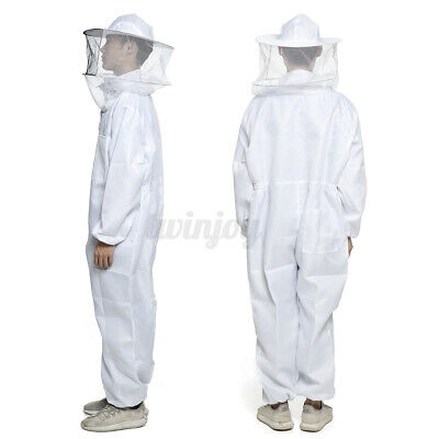 Xxl Professional Beekeeping Polyester Full Body Bee Keeping Suit With Veil Hood
