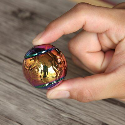 Rainbow Football Fidget Hand Spinner Finger Spin Stress Desk Toy EDC ADHD Autism