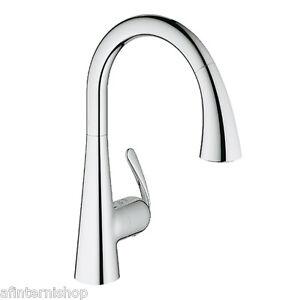 miscelatore rubinetto cucina inox estetica grohe zedra cromo ... - Rubinetti Grohe Cucina