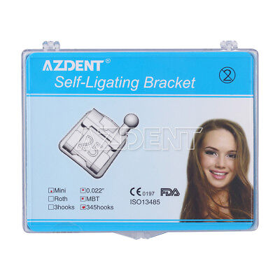 Azdent Dental Orthodontic Self-ligating Brackets Brace Mini Mbt. 022 Hooks 3-4-5