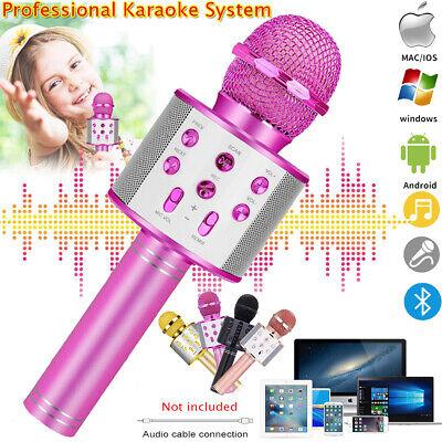 Portable Wireless Bluetooth Karaoke Stereo Microphone Mic KTV Speaker Player USA