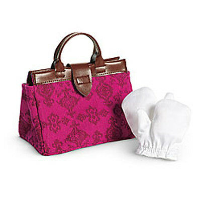 American Girl Samantha Travel Bag Set For 18  Dolls Gloves Accessories Purse New