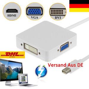 Mini Display Port Thunderbolt to HDMI VGA DVI Adapter For MacBook Pro iMac Air#6