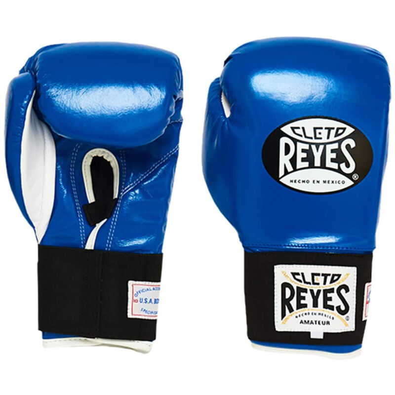 Cleto Reyes Amateur Hook and Loop Training Boxing Gloves - Blue