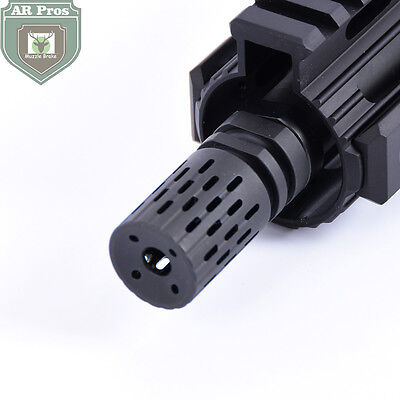 BattleComp steel .223 1/2x28 Thread Muzzle Brake with Jam Nut