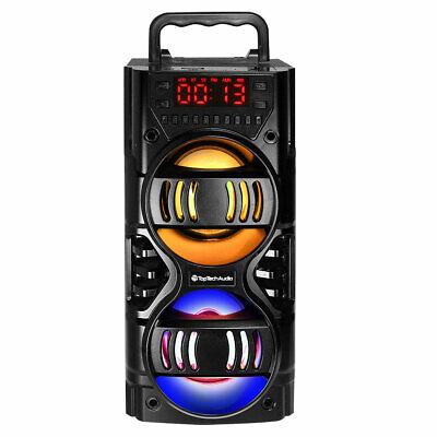 Fully Powered 700 Watts Portable Multimedia Speaker BLACK