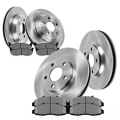 Front+Rear Rotors Metallic Pads For 2002 2003 2004 2005 Dodge Ram 1500 2WD 4WD