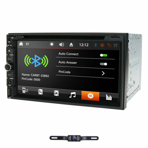 """Sony CD Lens Double 2Din In Dash 7""""Car Stereo Radio DVD Player AUX BT TV MP3 Mic"""