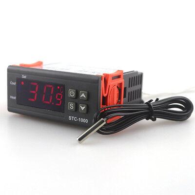 10a 110v Digital Temperature Controller Temp Sensor Thermostat Control Relay