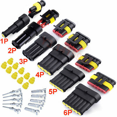 10kit 34pin Way Car Motorcycle Sealed Waterproof Electrical Wire Connector Plug
