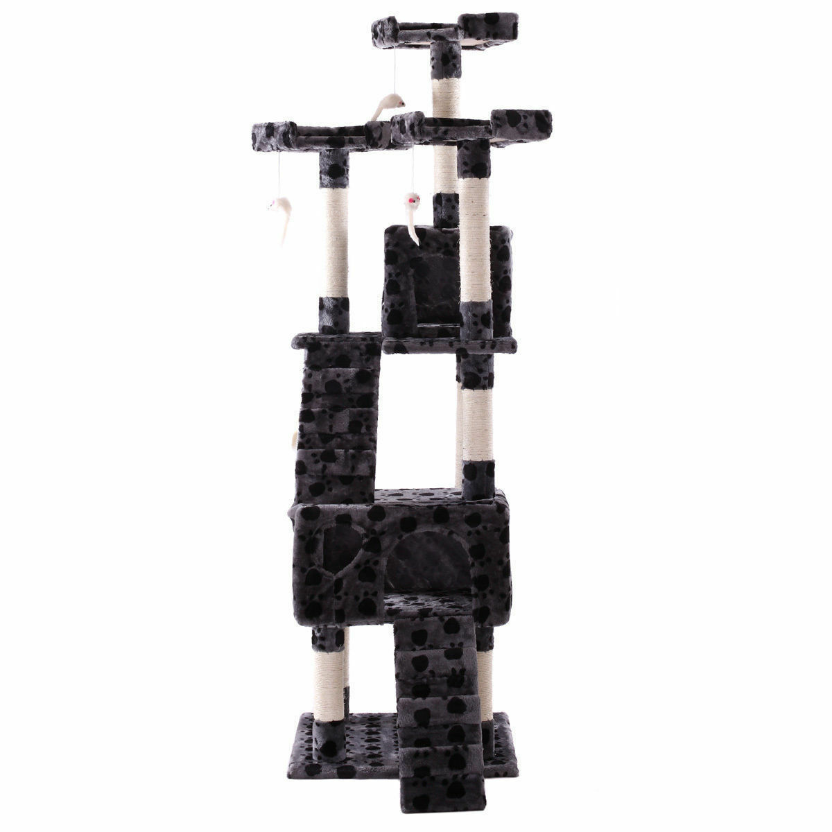 "67"" Cat Tree Tower Condo Furniture Scratching Post Pet Kitty Play House"