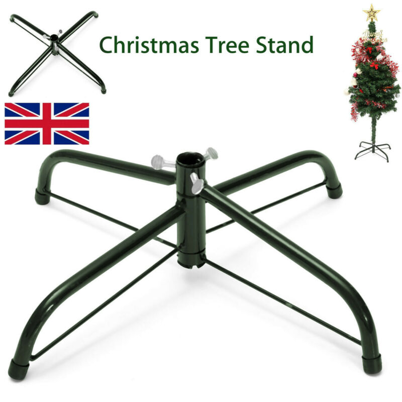 INSMA Christmas Ornament 4Ft Tree Stand Green Metal Holder Base Cast Iron Stand