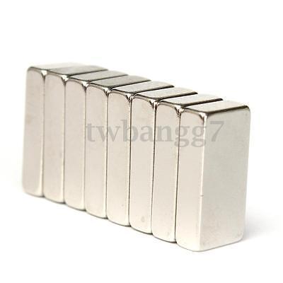 8pcs N52 Block Cuboid Strong Magnets Rare Earth Fridge Neodymium 20x10x5mm Us