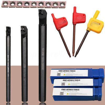 71012mm Sclcr06 Turning Tools Lathe Holder Boring Bar 10pcs Ccmt0602 Insert