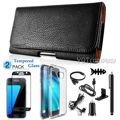 Horizontal Cell Phone Pouch (Cell Phone iPhone Horizontal Leather Carrying Pouch Case Cover Belt Clip)