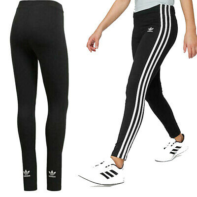 Adidas Ladies Small Trefoil / ESS Strips Linear Legging Jogging Gym Casual Wear