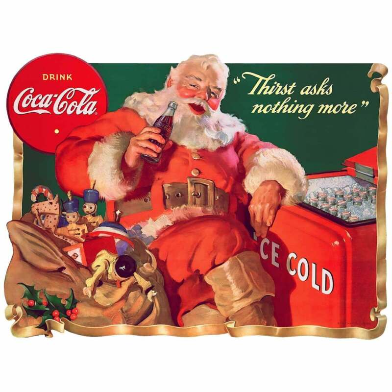 Coca-Cola Santa Thirst Decal Peel & Stick Wall Graphic