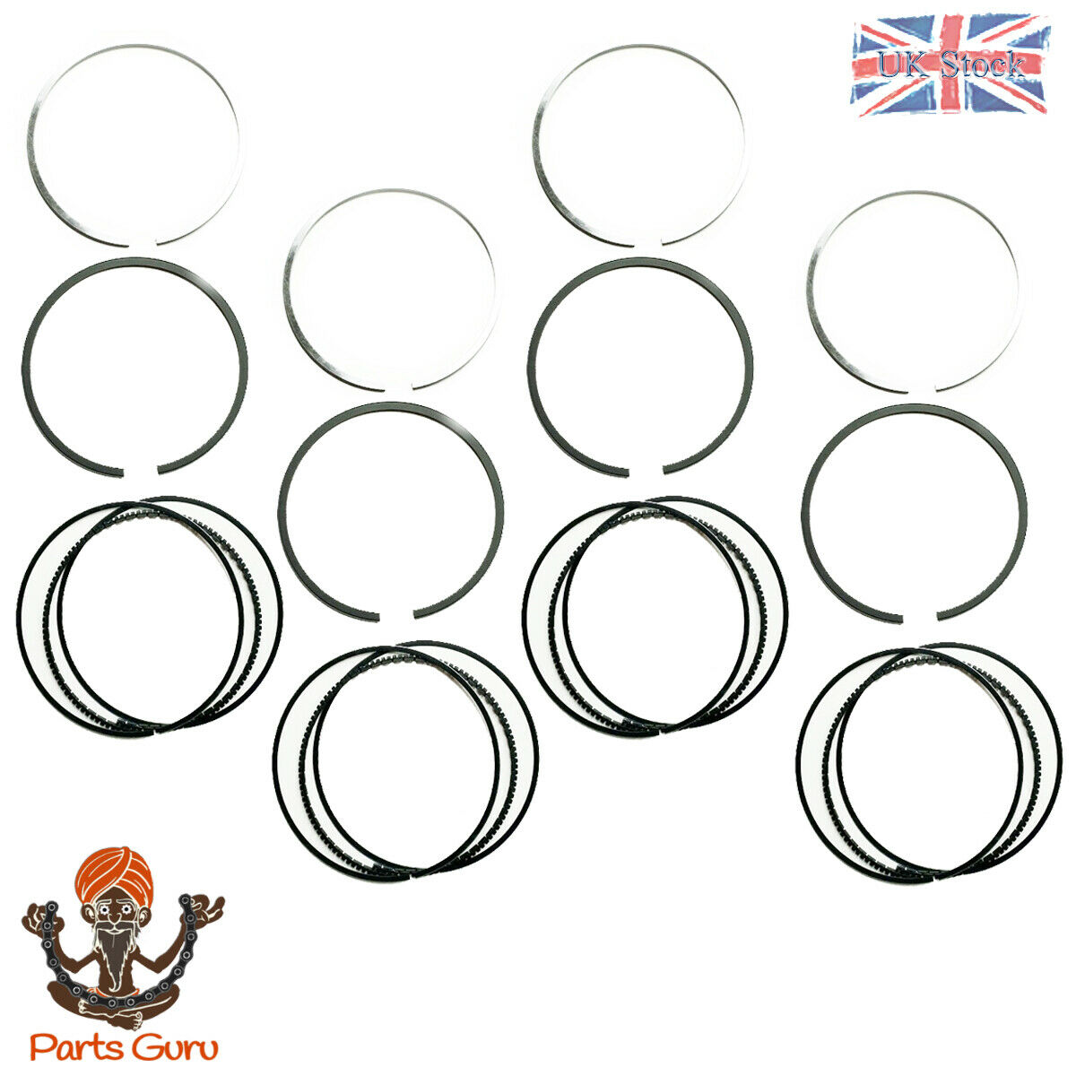Piston rings set pour Ford Transit 2.3 L 2000-2006 MK6 Galaxy Scorpio