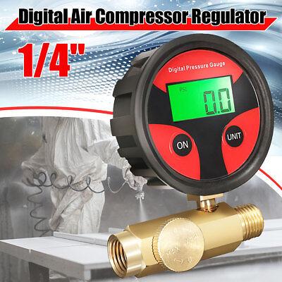 Digital Air Pressure Regulator Gauge Paint Spray Gun Airbrush Gauge Valve Tool
