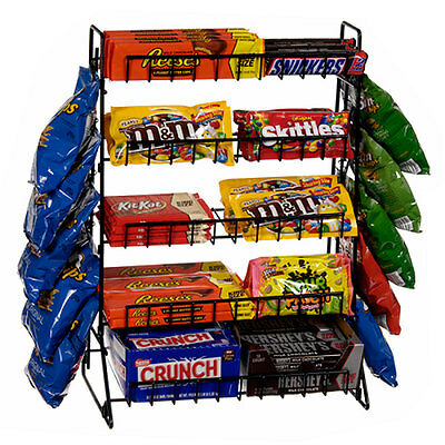 Countertop Candy Snacks Display Rack 5 Shelf Retail Store Fixture Black NEW