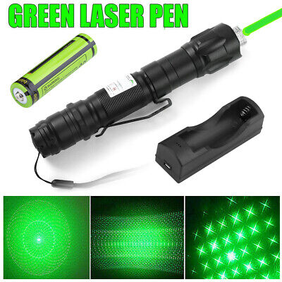 900miles Green Laser Pointer Pen 532nm Rechargeable Lazer Torchbatterycharger