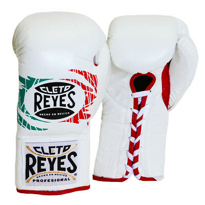 Flag Boxing Gloves - Cleto Reyes Official Lace Up Competition Boxing Gloves - Mexican Flag