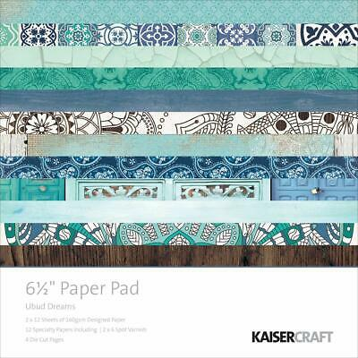 """Kaisercraft Ubud Dreams 6.5""""x6.5"""" Specialty Paper Pad PP1013 40 Sheets"""