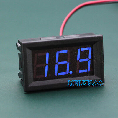 3pcs Mini Dc 5-120v Voltmeter Blue Led Panel 3-digital Display Volt Meter 2-wire
