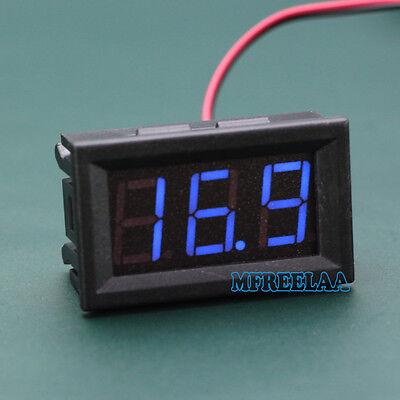 3pcs Mini Dc 5-120v Voltmeter Blue Led Panel 3-digital Display Volt Meter 2-wire