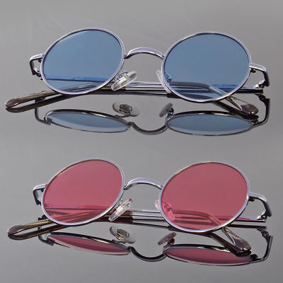 John Lennon Style Vintage Retro Classic Circle Round Sunglasses For Small (Shades For Small Face)