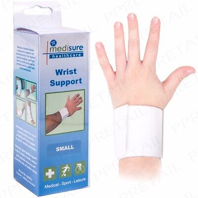 SMALL ELASTICATED WRIST SUPPORT STRAPPING Sporting Injury Compression Wrapping