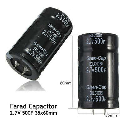 123610pcs 500f Farad Capacitor 2.7v 3560mm Super Capacitor Car Automob Ts