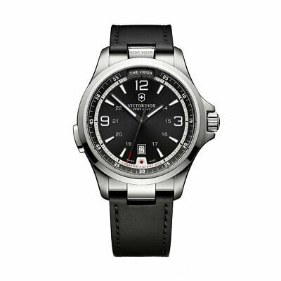 Victorinox Swiss Army Men's Watch Night Vision Black Dial Strap Quartz -