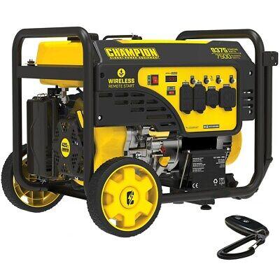 Champion 201004 - 7500 Watt Electric Start Generator W Rv Outlet Wireless ...