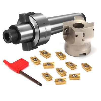 Mt3 Fmb22 Shank 400r 50mm Face Milling Cnc Cutter 10x Apmt1604 Carbide Inserts