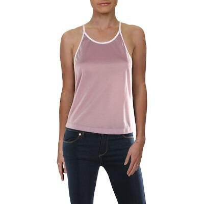 Free People Womens Purple Metallic Contrast Trim Tank Top Cami M BHFO 4966 Metallic Trim Tank