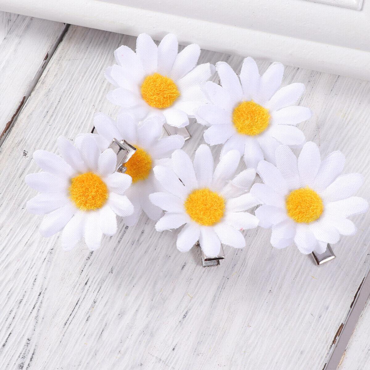 10Pcs Hair Clips Cute Sunflower Daisy Hair Barrettes Hair Accessories Hair Pins