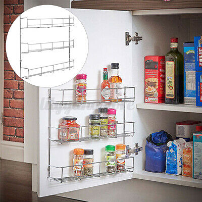 Spice Rack Cabinet Organizer Wall Door Mount Storage Kitchen Shelf Pantry