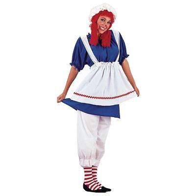 Charades Stoffpuppe Raggedy Ann Übergröße Adult Damen Halloween Kostüm 01158