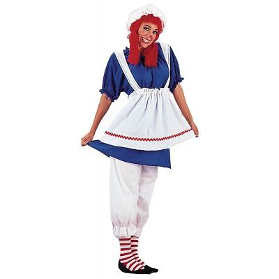 Plus Size Rag Doll Halloween Costumes (Charades Rag Doll Raggedy Ann Plus Size Adult Womens Halloween Costume)