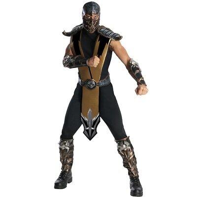 Skorpion Mortal Kombat Erwachsene Kostüm Kampf Ninja Get Over Hier Cosplay Spiel ()