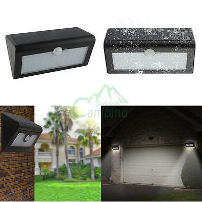 66 LED Solar Power PIR Motion Sensor Wall Light Outdoor Garden Waterproof Lamp