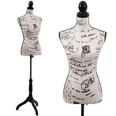 Female Mannequin Torso Designer Pattern Dress Form Display W Black Tripod Stand