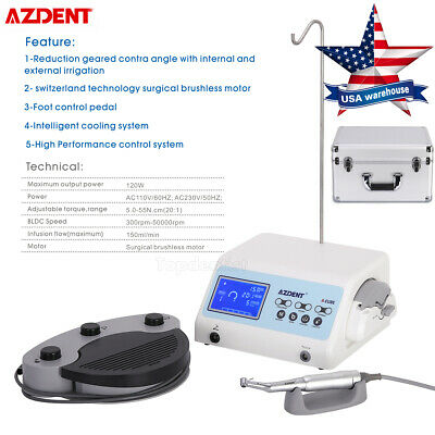 A-cube Dental Surgical Brushless Motor Portable Implant Unit System Foot Control
